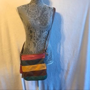 CHATEAU canvas and leather crossbody bag